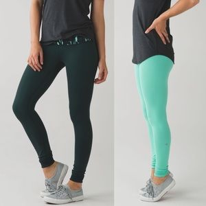 Lululemon Wunder Under Pant Reversible Menthol